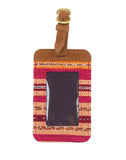 Fair Trade Red & Pink Handmade Luggage Tag Travel Gift