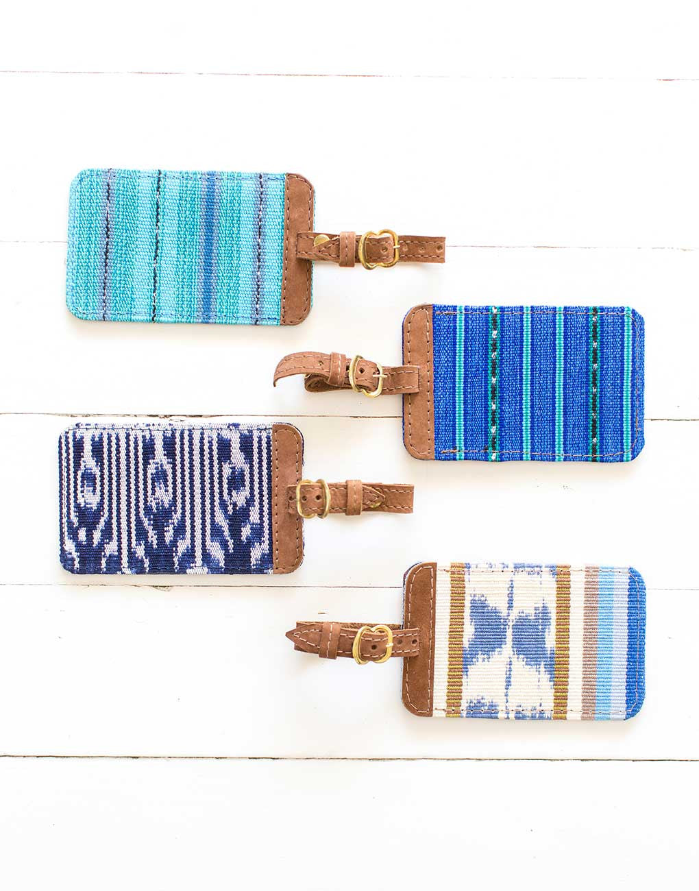 Fair Trade Artisan Made Blue Luggage Tag