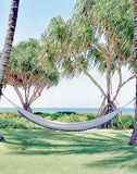 Fair Trade, Hand-woven Teal & Cream Hammock