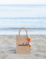 Small Mahalo Reusable Gift Tote In Black Font | The Little Market