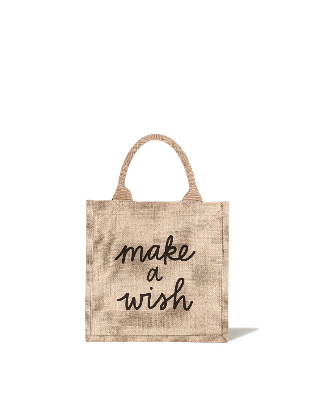 Large Make A Wish Reusable Gift Tote In Black Font | The Little Market