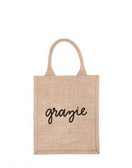 Fair Trade, Hand-woven, Reusable Burlap Bag, Grazie
