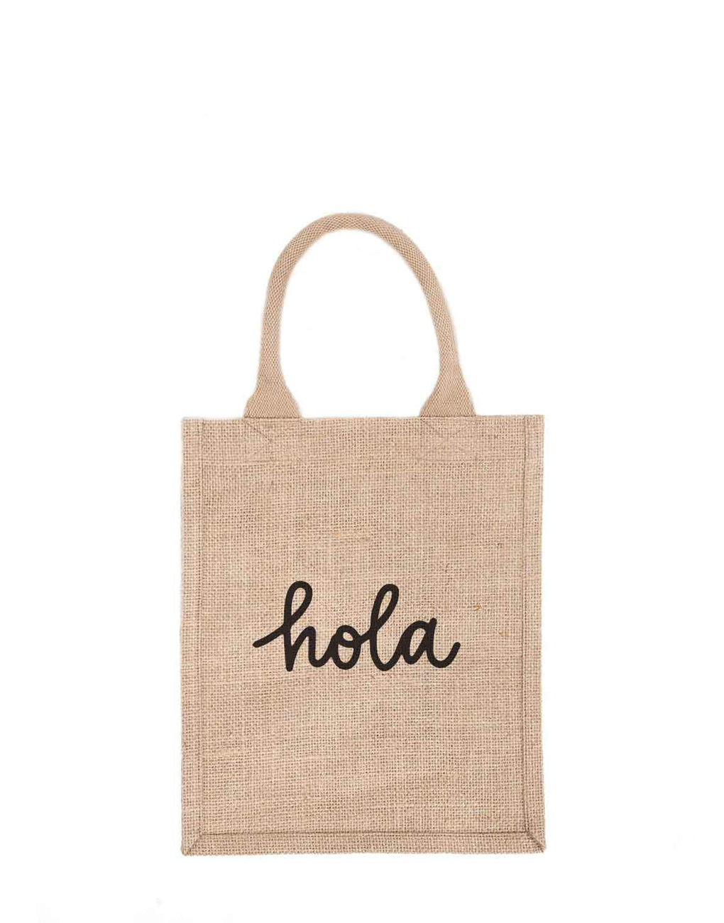 Medium Hola Reusable Gift Tote In Black Font | The Little Market