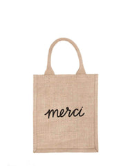 Fair Trade, Hand-woven, Reusable Burlap Bag, Merci