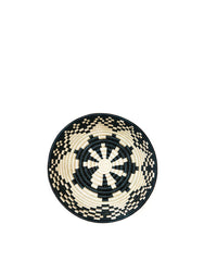 Fair Trade Hand-woven medium black & tan bowl