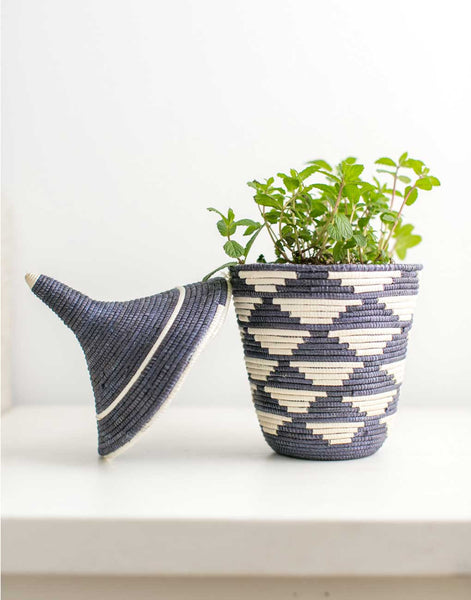 Fair Trade Handwoven Gray Basket
