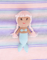 Fair Trade, Artisan Made Blue & Pink Mermaid Doll