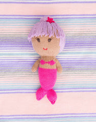 Fair Trade, Artisan Made Purple & Pink Mermaid Doll
