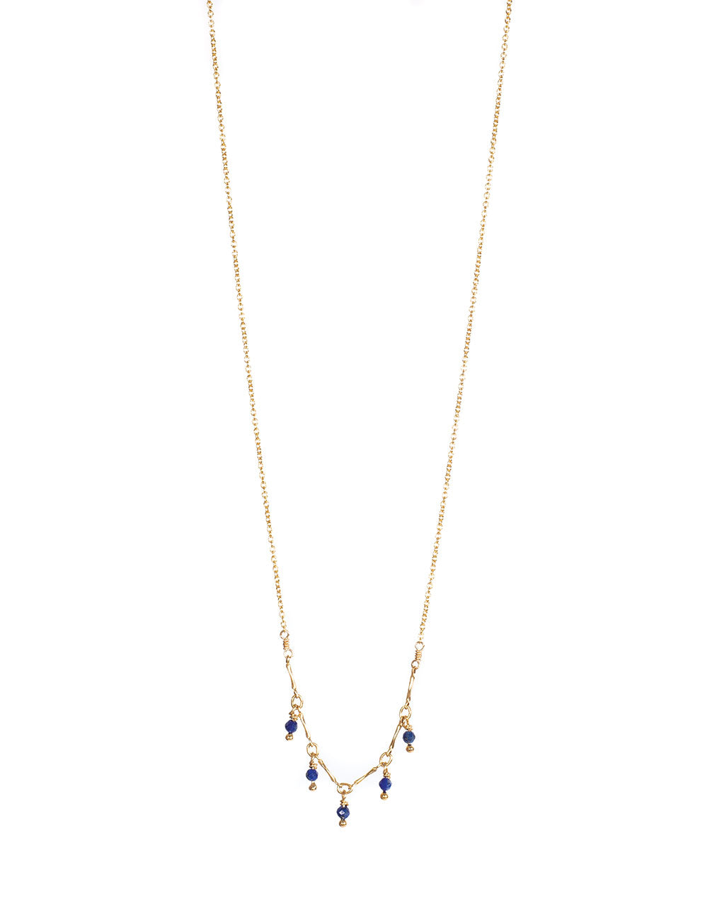 Gemstone Necklace - Midnight Blue | The Little Market