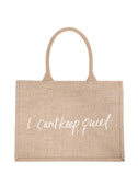 Small I Can't Keep Quiet Purposefull Shopping Tote In White Font | The Little Market