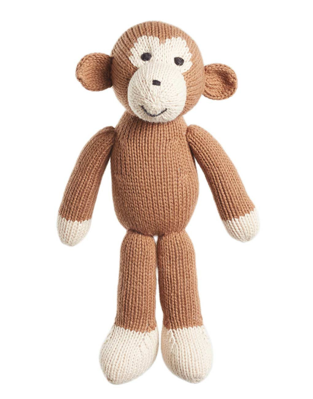 Fair Trade Handmade Knit Stuffed Animal Monkey The Little Market