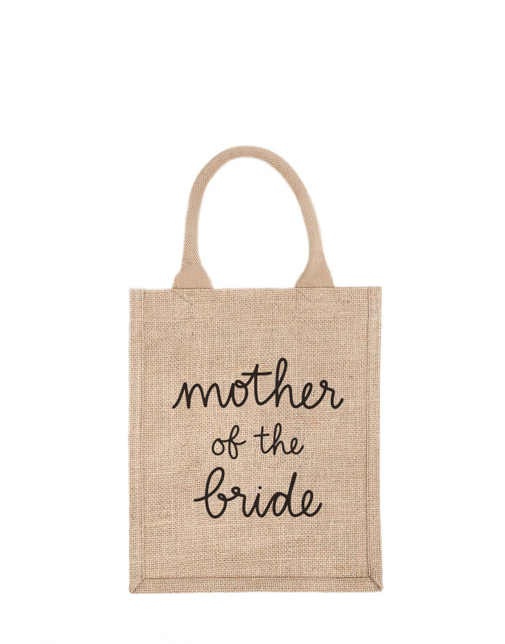 Medium Mother Of The Bride Reusable Gift Tote In Black Font | The Little Market