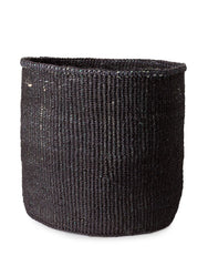 Solid Sisal Basket - Black