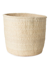 Solid Sisal Basket - White