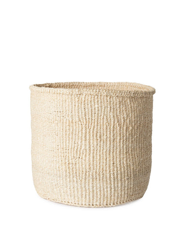Solid Sisal Basket   White ...