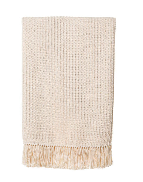 Natural Fringe Throw - Style 3