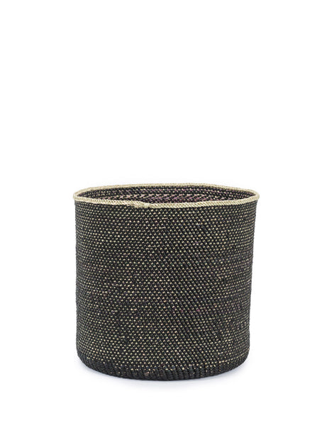 Natural Iringa Basket - Black