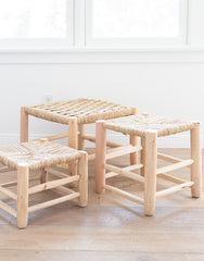 Natural Moroccan Woven Stool