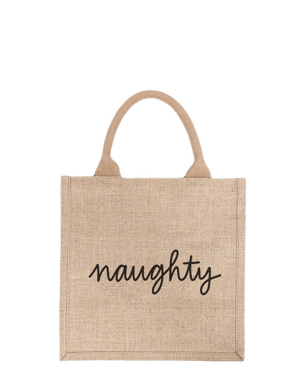 Large Naughty Reusable Gift Tote In Black Font | The Little Market