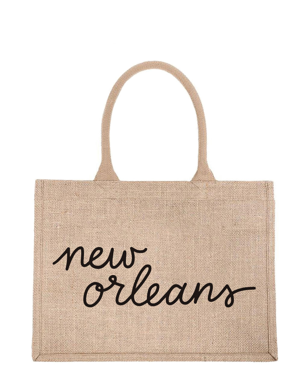 Small New Orleans Reusable Shopping Tote In Black Font | The Little Market