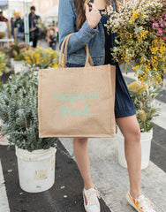 Newport Beach Reusable Shopping Market Grocery Tote Bag | The Little Market