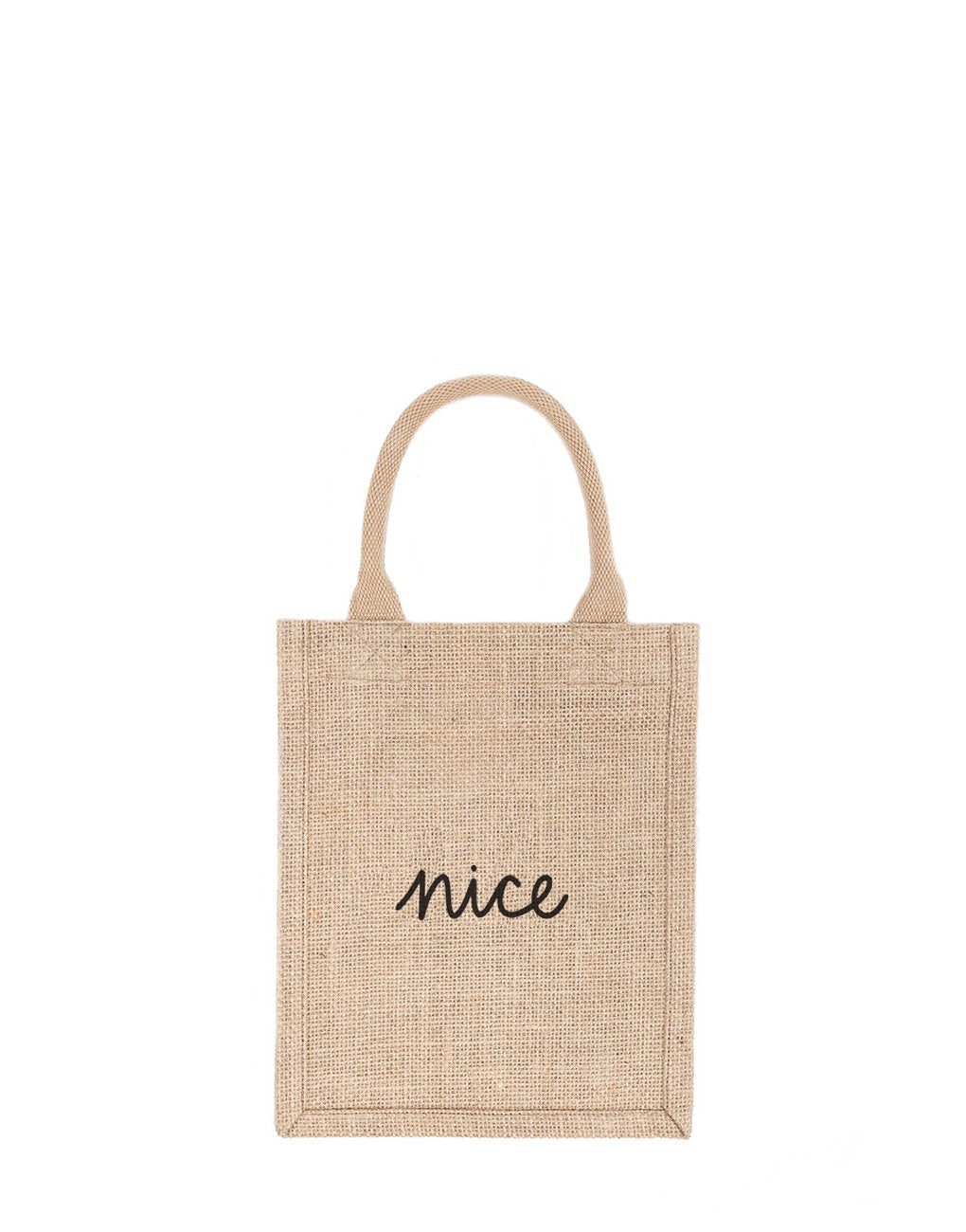 Small Nice Reusable Gift Tote In Black Font | The Little Market