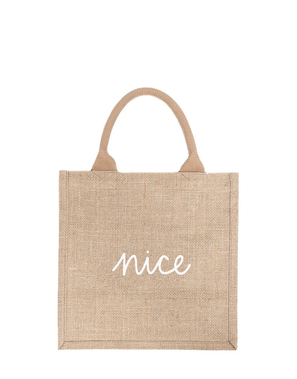 Large Nice Reusable Gift Tote In White Font | The Little Market