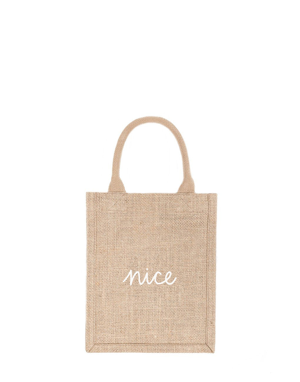 Small Nice Reusable Gift Tote In White Font | The Little Market