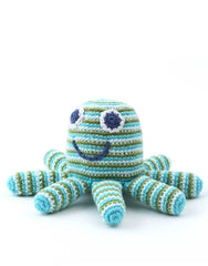 Octopus Shaped Green Baby Rattle