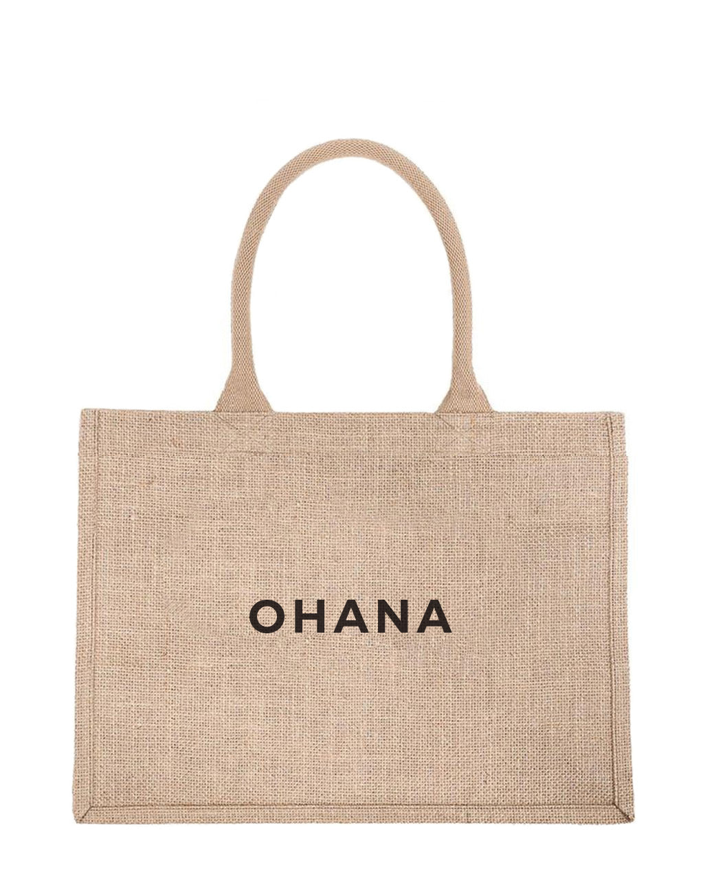 Small Ohana Reusable Shopping Tote In Black Font | The Little Market