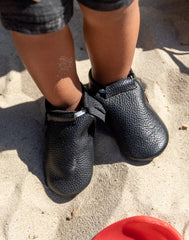 Black Baby Moccasins | The Little Market
