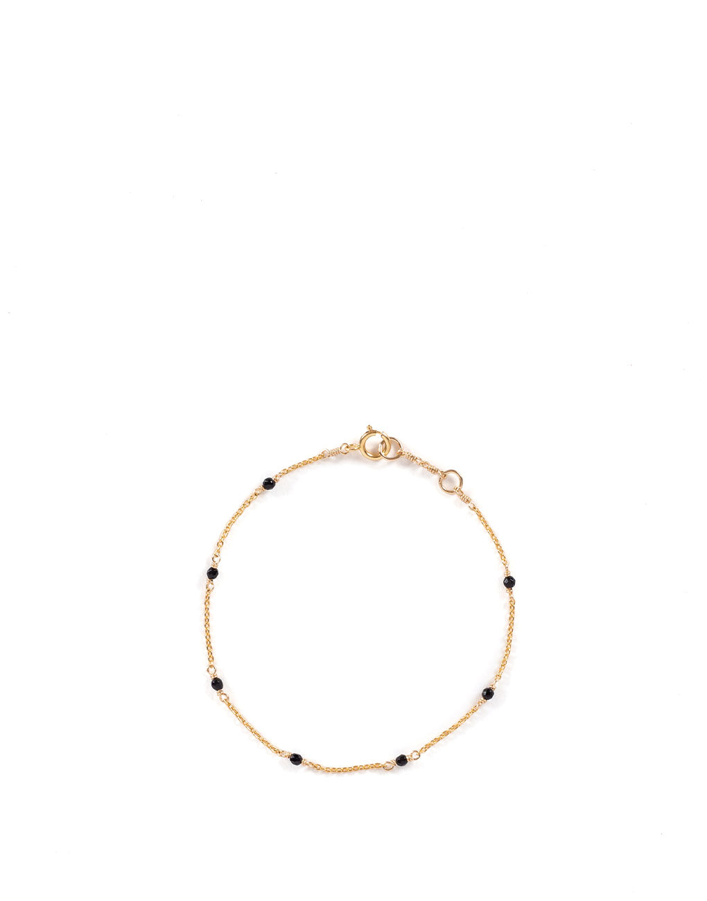 Dainty Gemstone Bracelet - Onyx | The Little Market