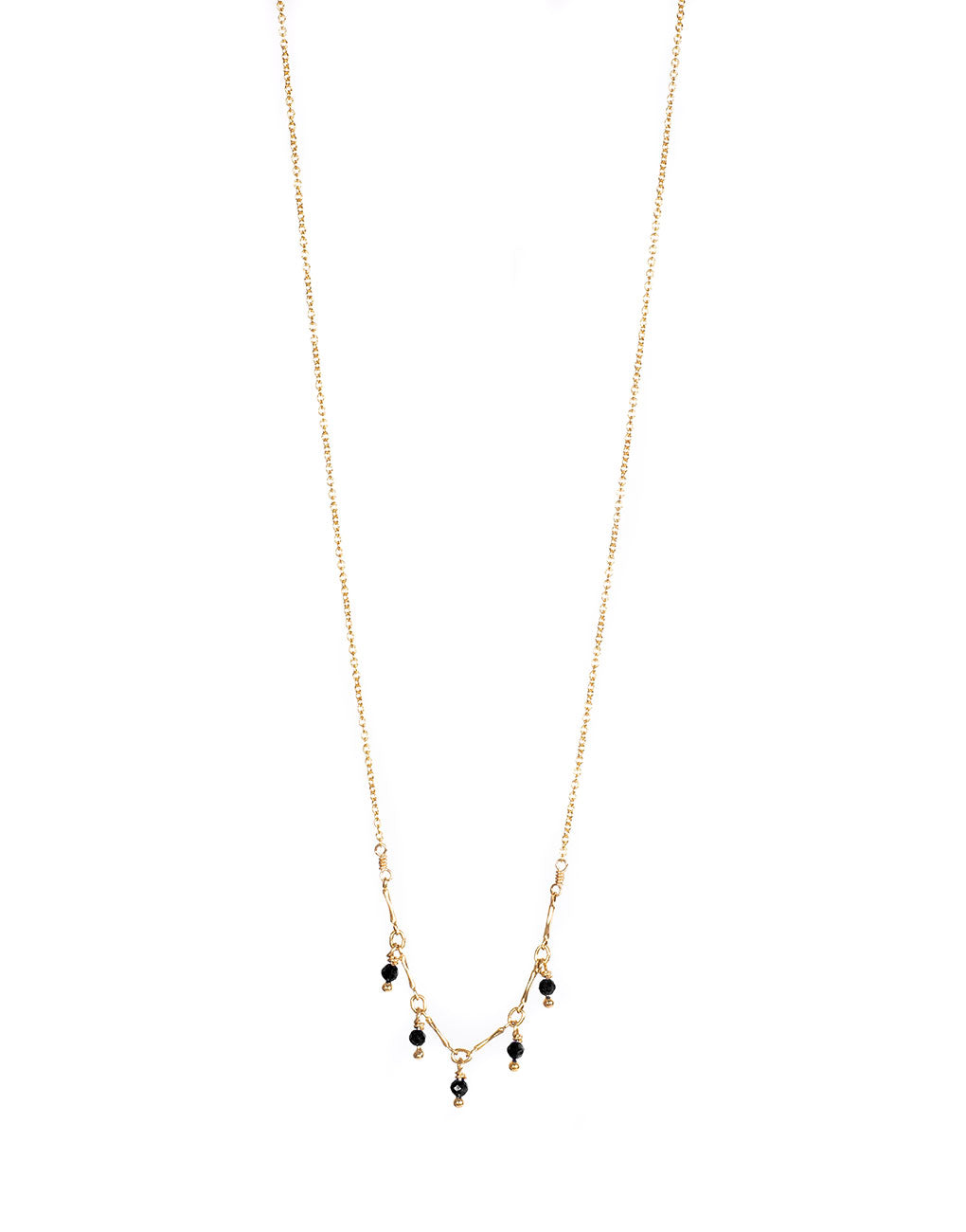 Gemstone Necklace - Onyx | The Little Market