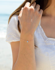 Fair Trade Blue Opal Rose Gold Bracelet