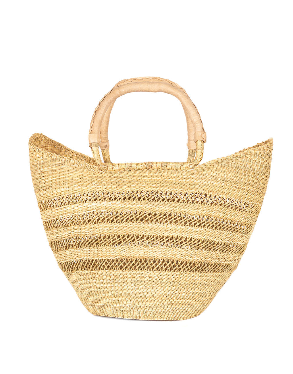 Open Weave Bohemian Market Basket - Natural | The Little Market