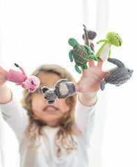 Knitted Finger Puppet Set - Outback Animals