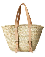 Palm And Leather Shopper | The Little Market