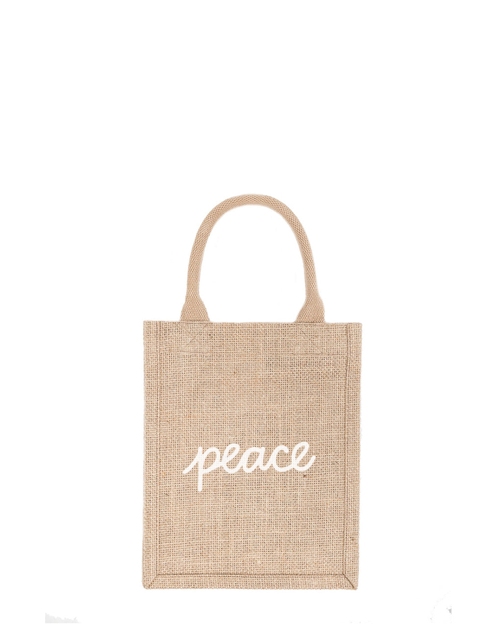 Small Peace Reusable Gift Tote In White Font | The Little Market