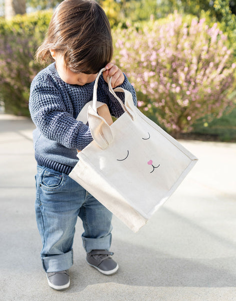 Canvas Bunny Tote - Pink | The Little Market