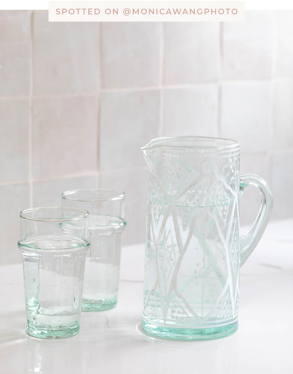 Petite Glass Pitcher - White | The Little Market