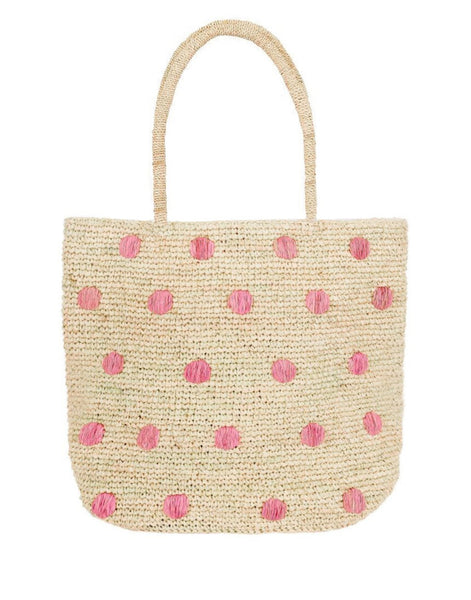 Polka Dot Tote - Light Pink