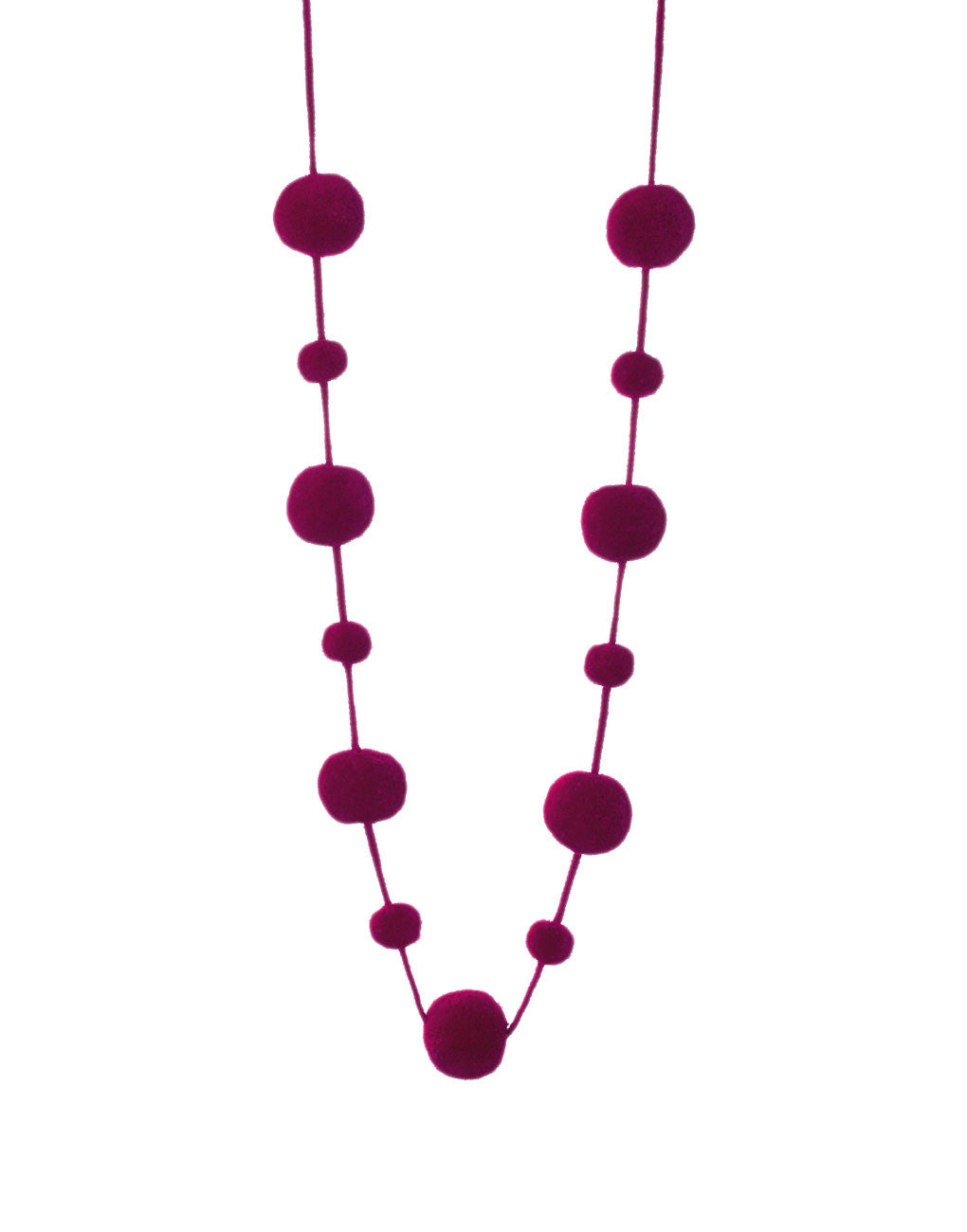 Pom Pom Garland - Grape