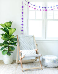 Fair Trade Handmade Purple Garland