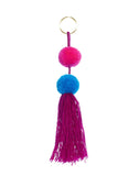 Fair Trade Pink + Blue Mexico Pom Pom Decorative Accessory
