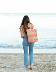 Pom Pom Tote - Light Pink