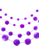 Fair Trade Artisan Made Purple Pom Pom Garland