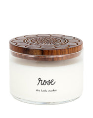 Artisan Made, Non-GMO 3-Wick Candle, Rose
