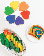 Rainbow Frosted Cookies, Loaf, and Challah Braid | Homeboy Bakery | The Little Market
