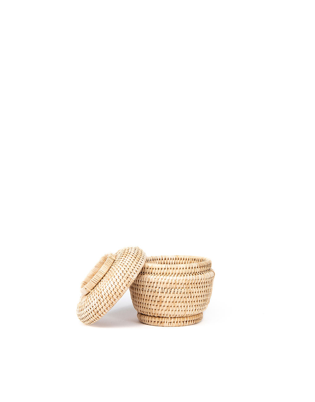 Rattan Lidded Basket - Natural