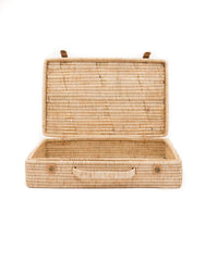 Rattan Diamonds Natural Suitcase | The Little Market